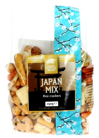 Krakersy ryżowe Arare, snack miks Japan 150g - Golden Turtle Brand